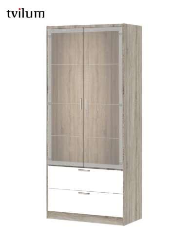 Household Cabinet Bremen 2 Glass Doors 2 Drawers Tv79793
