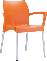 047 Dolce Arm Chair with Aluminium Legs