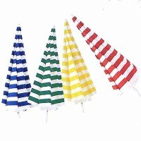 05853 Steel Beach Umbrella 180cm Red / White