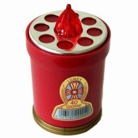 08600 Candle Battery Red