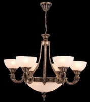 11989 Rita 6 + 3 Chandelier Antique