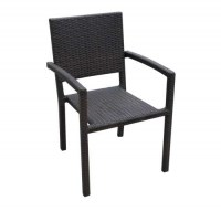 12005 Rattan Arm Chair Brown