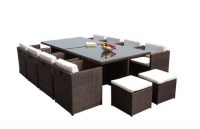 12101C Rattan Cube Set x 8 Chair + 4 Footstools