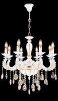 13898 Zarif x 8 Chandelier White