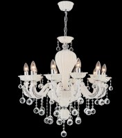 14060 Atlas x 10 Chandelier white