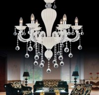 14066 Atlas x 6 Chandelier white