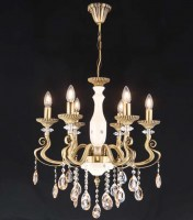 14076 Kugu x 6 Chandelier Antique