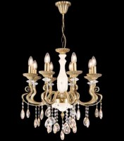 14078 Kugu x 8 Chandelier Antique