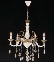 14085 Zara x 5 Chandelier Antique
