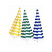 49347 Steel Beach Umbrella 200cm Yellow / White