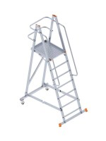8106 Foldable Wheeled Platform Ladder