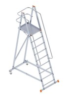 8108 Foldable Wheeled Platform Ladder