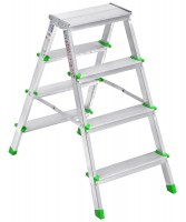 AAA 1904 Aluminium Mega Double Side Ladder 4+4