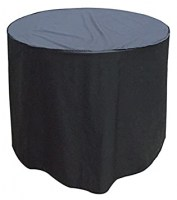 W1360 4SEATER ROUND TABLE COVER BLACK