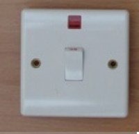 White 20A D.P. Switch With Neon