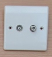White Satelite + TV Socket