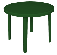 ZEUS ROUND TABLE 92CM Green
