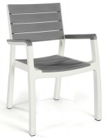 harmony armchair  white grey Low