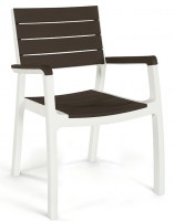 harmony armchair white brown Low